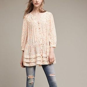 Anthropologie Maeve Paccia Button Down Tunic